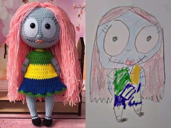 בובה מותאמת אישית מציור