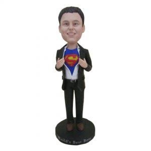 בובה קטנה מותאמת אישית עם חולצת סופרמן